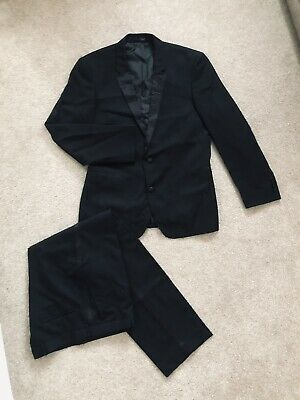 £14 • Buy Mens TAYLOR&WRIGHT Black Formal Suit 38R Chest, Trousers 34R (34/31 )