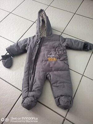 £4.99 • Buy Disney Baby Unisex Grey Winnie The Pooh Snowsuit/coat/all In One Size 3-6 Month