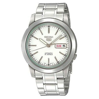 $ CDN173.09 • Buy Seiko 5 Automatic White Dial Silver Stainless Steel Men's Watch SNKE49K1 RRP £16
