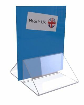 £4.95 • Buy Menu Base Acrylic Card Print Holder Stand  Pack Of 5,10,20 Clear Black White