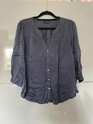 £0.99 • Buy The White Company Silk Blouse Top Shirt Size 14