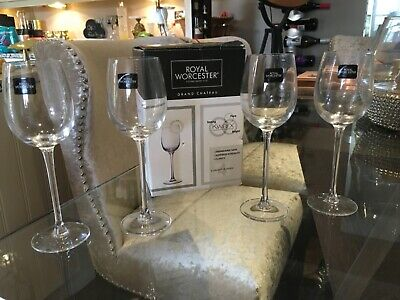 £9.99 • Buy Royal Worcester Grand Chateau Set Of Four Glasses