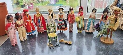 £50 • Buy Job Lot 11 Dolls - 8 Collectors Costume Dolls By Rexard / 3 Indian Dolls