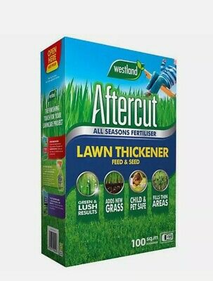 £19.49 • Buy Aftercut Lawn Thickener New Grass All Seasons Feed And Seed,100 M2, 3.5kg