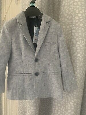 £3.99 • Buy Boys Grey Light Summer Blazer Suit Size 2years Old With Free Short 🩳
