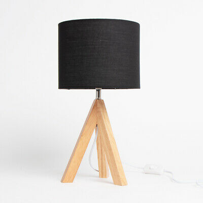 £21.99 • Buy New Small Wooden Legged Tripod Table Lamp Perfect For Light Up Your Room BH-21