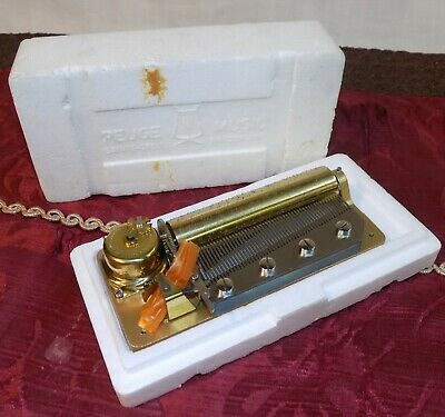£218.16 • Buy Vintage, Unused, 1970's Reuge 4 Tune 50 Tooth Music Box Swiss Musical Movement