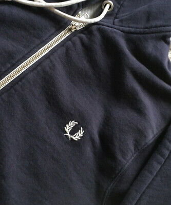 £25 • Buy Men's Classic Fred Perry Hoody / Sweatshirt Faded Blue  Size XS