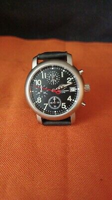 £72.31 • Buy NOS Harley Davidson Watch Chronograph & Date 50M Leather Band  No 📦 Box