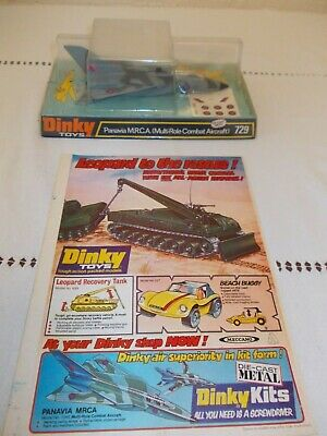 £89.99 • Buy Vintage Dinky Toys Panavia M.R.C.A. (Multi Role Combat Aircraft) 729