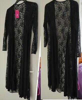 £5.50 • Buy Soft Lace & Fabric Long Waterfall Cardigan With Full Length Sleeves. Size 24/26