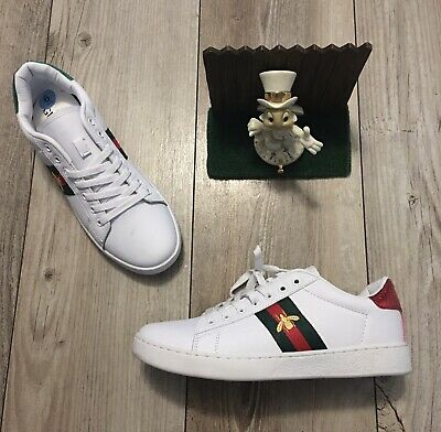 AU175.66 • Buy GUCCI Protype Unisex Ace Embroidered Leather Sneakers Shoes 9 / 43 Men