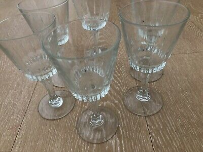 £16 • Buy 6 Vintage French Crystal Glasses Harlequin Sherry Or Small Wine Champagne
