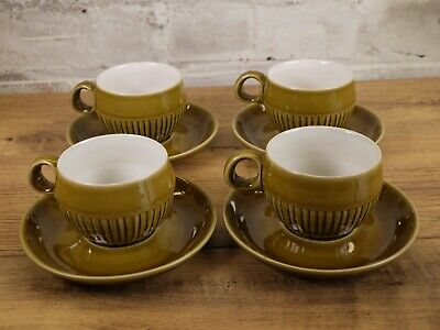 £14.99 • Buy 4 Vintage Denby Langley Patrician Gold Cup And Saucers