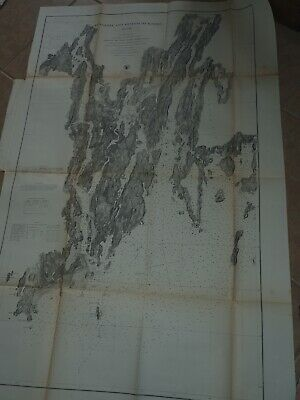 $14.99 • Buy Antique Map   Kennebec And Sheepcot Rivers Maine  US Coastal Survey