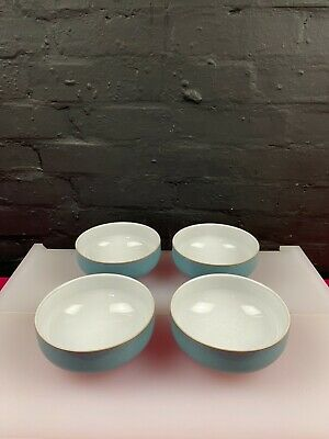 £49.99 • Buy 4 X Denby Azure Cereal Bowls 6  ( 15.5 Cm ) Wide 2 Sets Available 1st Quality