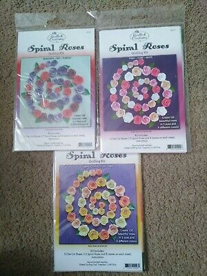 £7.50 • Buy Quilled Creations Spiral Roses  3  Part Used Quilling Kits.