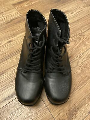 £6.99 • Buy Topshop Black Ankle Heeled Boots Size 3