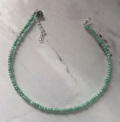 £2.85 • Buy Sage Green Pearl Choker Necklace Seed Beads Summer