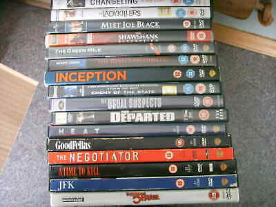 £5.75 • Buy 16 DVD The Departed, 51st State, Negotiator, Heat, Enemy Of The State, Inception