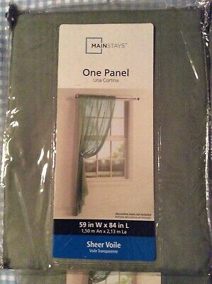 $40 • Buy Mainstays Sheer Curtain Panel, Set Of 4 Panels, New In Package, Sage. 59 X 84 In