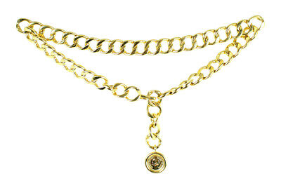 £499.45 • Buy CHANEL Vintage Gold Metal 31 RUE CAMBON Logo Coin Curb Link Chain Belt