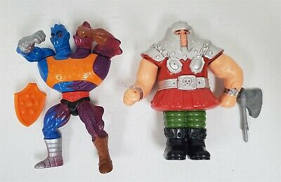 $13.49 • Buy P82 Vintage 1980's Mattel Masters Of The Universe Ram Man & Two Bad - Complete
