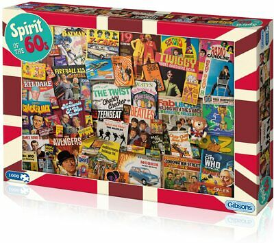 £13.99 • Buy  Gibsons Spirit Of The 60s 1000 Piece Jigsaw Puzzle G7082