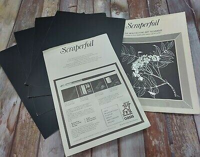 £2.49 • Buy New Pack Of 4 Scraperfoil Boards ~ Vintage Craft Products ~ Art Craft Creative