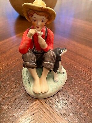 $ CDN11.19 • Buy W Goebel Figurines West Germany Norman Rockwell 1963 A Boy And His Dog 🐶