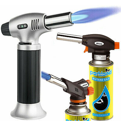 £9.75 • Buy Blow Torch Butane Refillable Lighter Culinary Cooking Baking Crafts Camping Bbq
