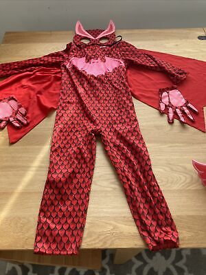£2.50 • Buy Child's Owlette PJ Masks Costume Outfit Dress Up With Gloves, Mask And Cape 3-5.