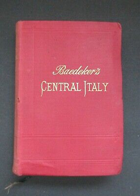 £20 • Buy Baedeker's Central Italy And Rome, 1900 (13th Ed)