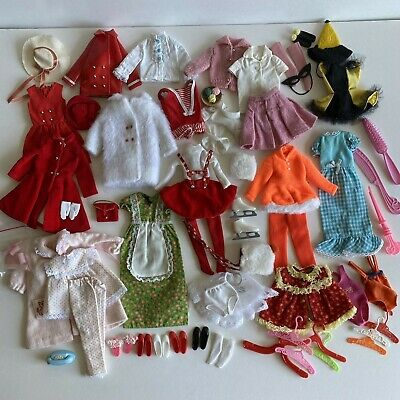 $ CDN58 • Buy Vtg Barbie SKIPPER Lot 50+ Black Label Clothing Outfits Shoes Accessories 1960s