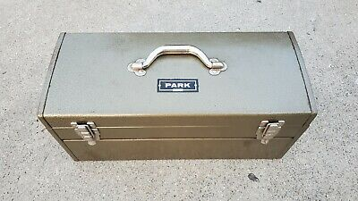 $149 • Buy Vintage Park Olive Green Metal Tool Box Machinist Chest Model 84447