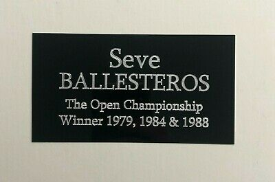 £11.95 • Buy Seve Ballesteros - 5x3 Inch Engraved Plaque / Plate For Signed Golf Memorabilia