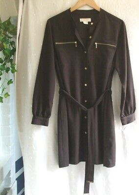 £5.99 • Buy Michael Kors..Brown Dress With Gold Detail.UK Size 14 Petite.Used Once.Exc Cond