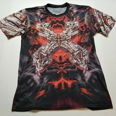 £23.37 • Buy Excision 2017 Tour Shirt Mens L All Over Dubstep Mechanical Industrial Metal I37