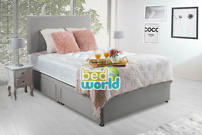 £209.95 • Buy MEMORY FOAM DIVAN BED SET WITH MATTRESS AND HEADBOARD 3FT 4FT6 Double 5FT King