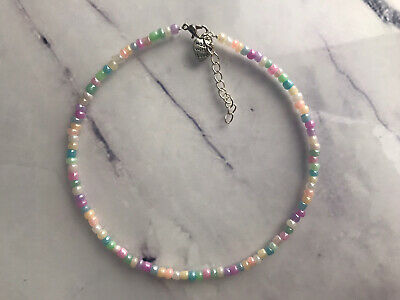 £3.10 • Buy Multi Colour Choker Necklace Pearl Seed Beads Summer