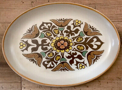 £6 • Buy Vintage Retro 60's 70's Denby Langley Canterbury Oval 12 Inch Dinner Plate