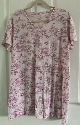 £0.99 • Buy Pink Floral Night Dress Size 16-18 (@@)