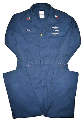 $35.82 • Buy US Navy Military Issue Utility Coveralls Mens 46L Jumpsuit 1990s Ship Seaman