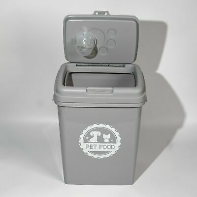 £22.95 • Buy 40L Pet Food Dry Feed Container Animal Dog Cat Storage Box Bin & Scoop - Grey