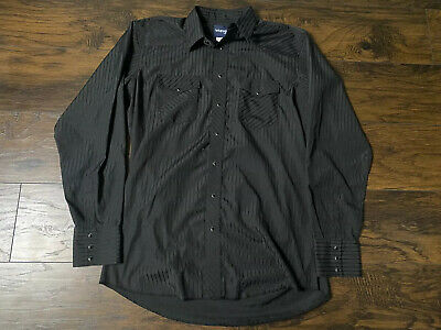 $7.99 • Buy Vintage Wrangler Western Shirt Button Up Pearl Snap Size LT Long Sleeve
