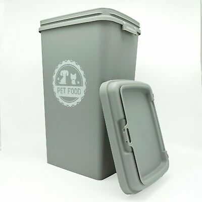 £29.45 • Buy 53L Liter Pet Food Dry Feed Container Animal Dog Cat Storage New Box Bin Grey