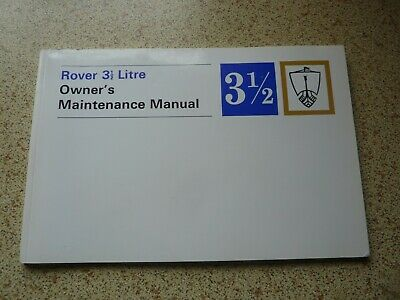 £20 • Buy ROVER P5B Saloon & Coupe. Owners Maintenance Manual.  NEW.  605215. Genuine.