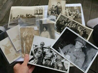$2.99 • Buy LOT Vintage Photos Kids Military WWII Post Cards Navy Ship School Class Photo NR
