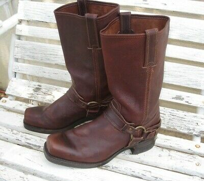 $49.99 • Buy Frye Belted Harness Boots 87250 Chestnut Brown Leather Mens 11.5M