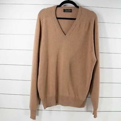 $49.99 • Buy Brooks Brothers Cashmere Sweater Sz Medium Mens Heathered Brown Pullover V Neck